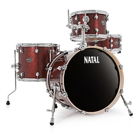 NATAL ARCADIA dobfelszerelés állványokkal Traditional Jazz Lacquer