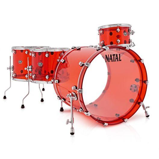Natal Arcadia Acrylic dobfelszerelés, shell pack AA2