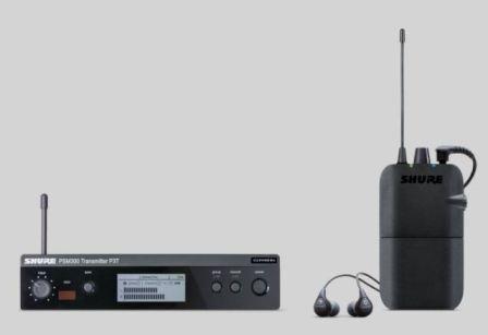 Shure PSM300 P3TR112GR Vezetéknélküli személyi monitorrendszer, SE112 fülhallgatóval