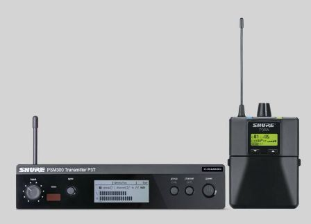 Shure PSM300 P3TRA Vezetéknélküli személyi monitorrendszer, fém házas vevővel, fülhallgató nélkül