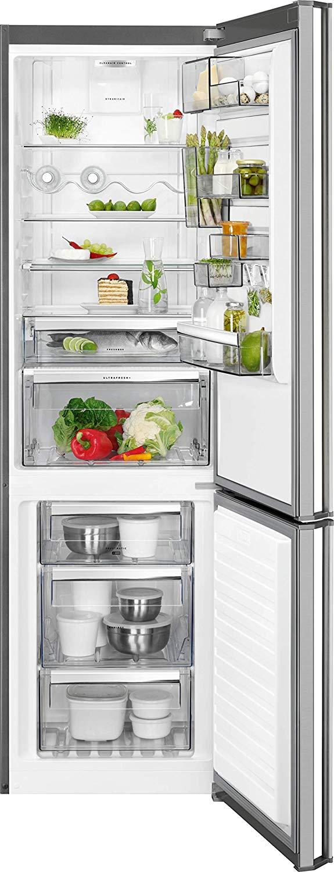 AEG RCB93734KX  NO FROST INOX alulfagyasztós hűtőszekrény, A+++