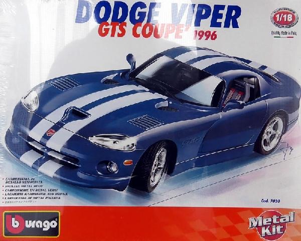 Dodge viper 1/18  Bburago összerakható fém kit