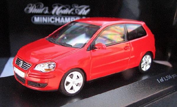 VOLKSWAGEN POLO - 2005 - RED Minichamps 1/43 MI-400054400