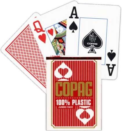 Copag - 100% Plastic kártya 2 Jumbo index (12db)