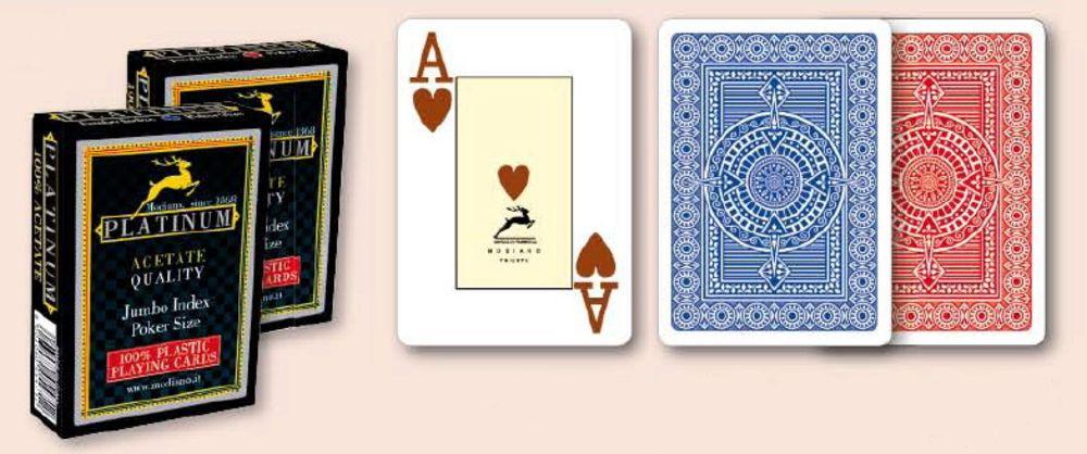 Modiano Platinum 100% Plasztik Casino kártya