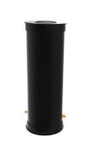 400mm átmérőjű vízóraakna lépésálló fedlappal, flexibilis, kiemelhető szerelvényekkel, MOM13 órával