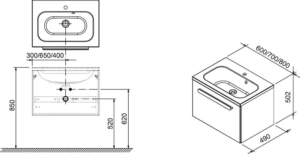 SD 600 Chrome szekrény a mosdó alá (fehér/fehér) - furdoszoba.shop.hu RAVAK fürdőszoba áruhaz ...