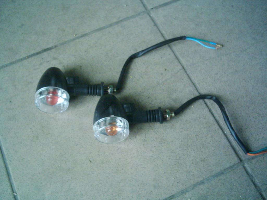 Moped, Enduro, gumis száru kerek index pár.