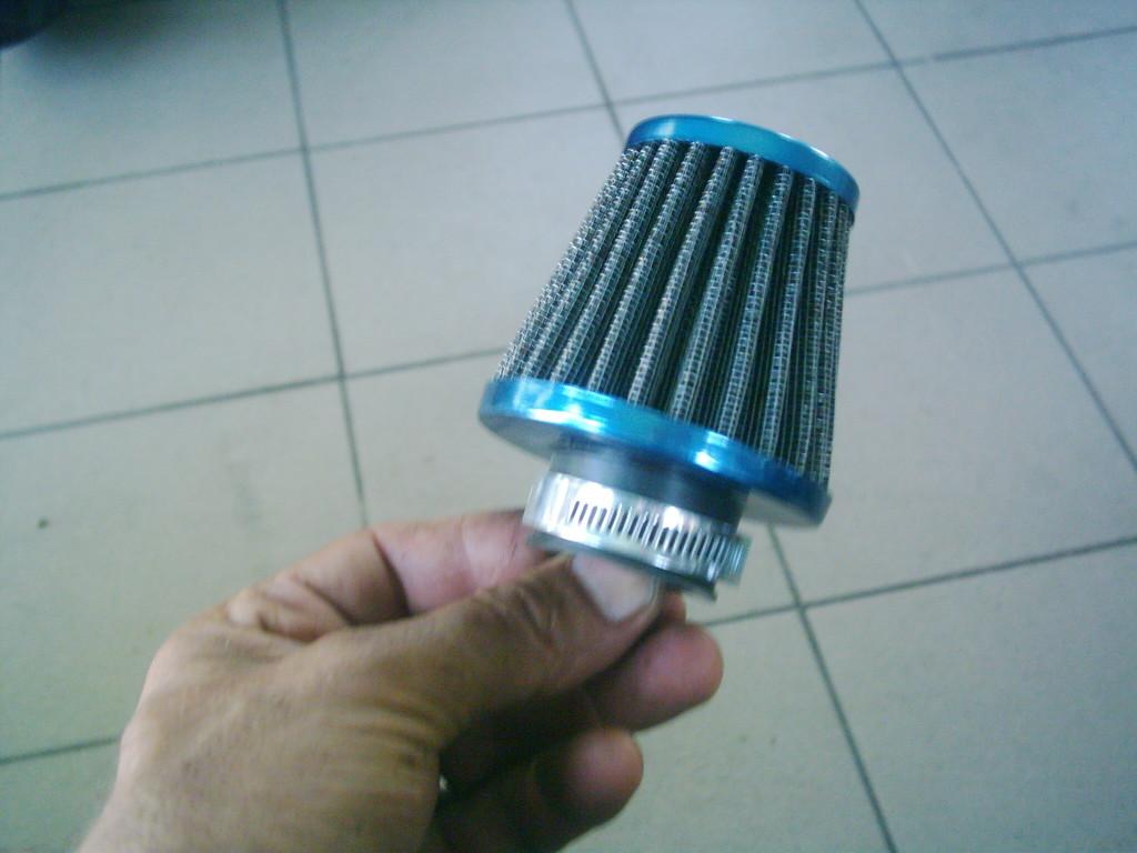 Tuning légszürő , egyenes csővel,35mm.