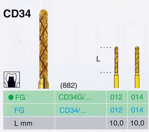 CD 34G/014 FG gyémánt csiszoló