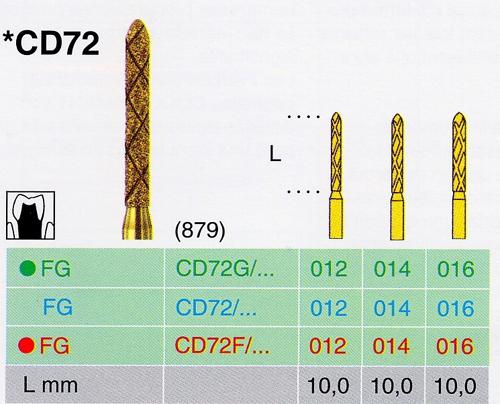 CD 72G/012 FG gyémánt csiszoló