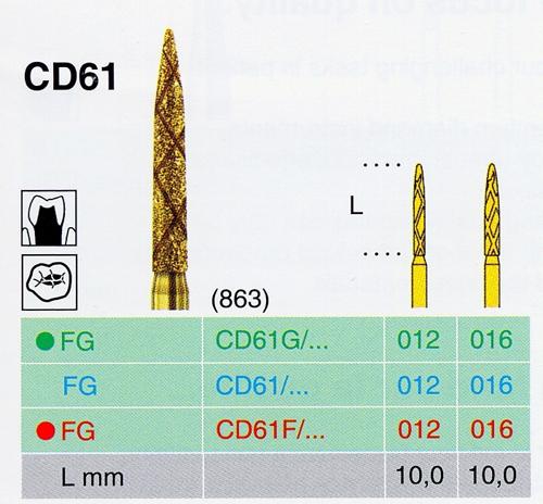 CD 61G/016 FG gyémánt csiszoló