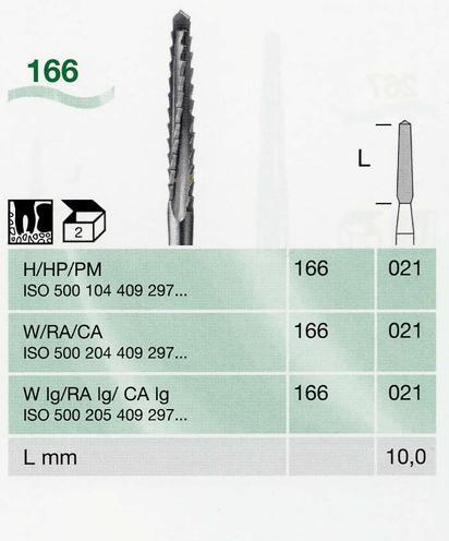 166/021 H sebészeti keményfém frézer