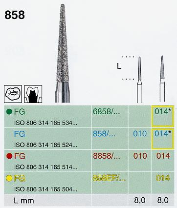 6858/014 FG gyémánt csiszoló, durva  <span style=
