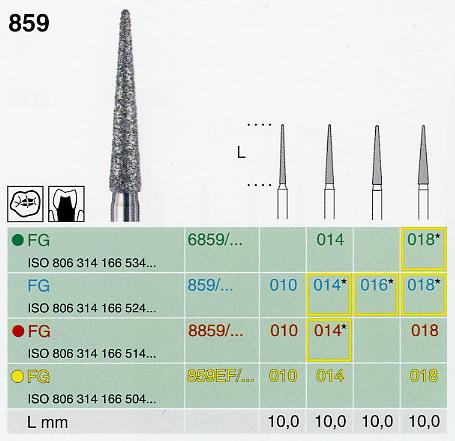 6859/018 FG gyémánt csiszoló, durva