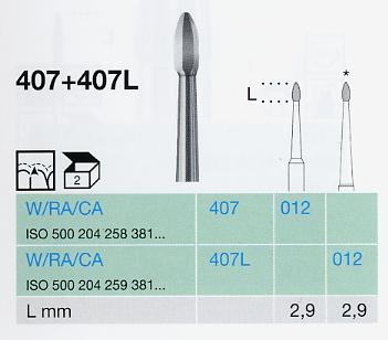 407L/012 W keményfém depuráló