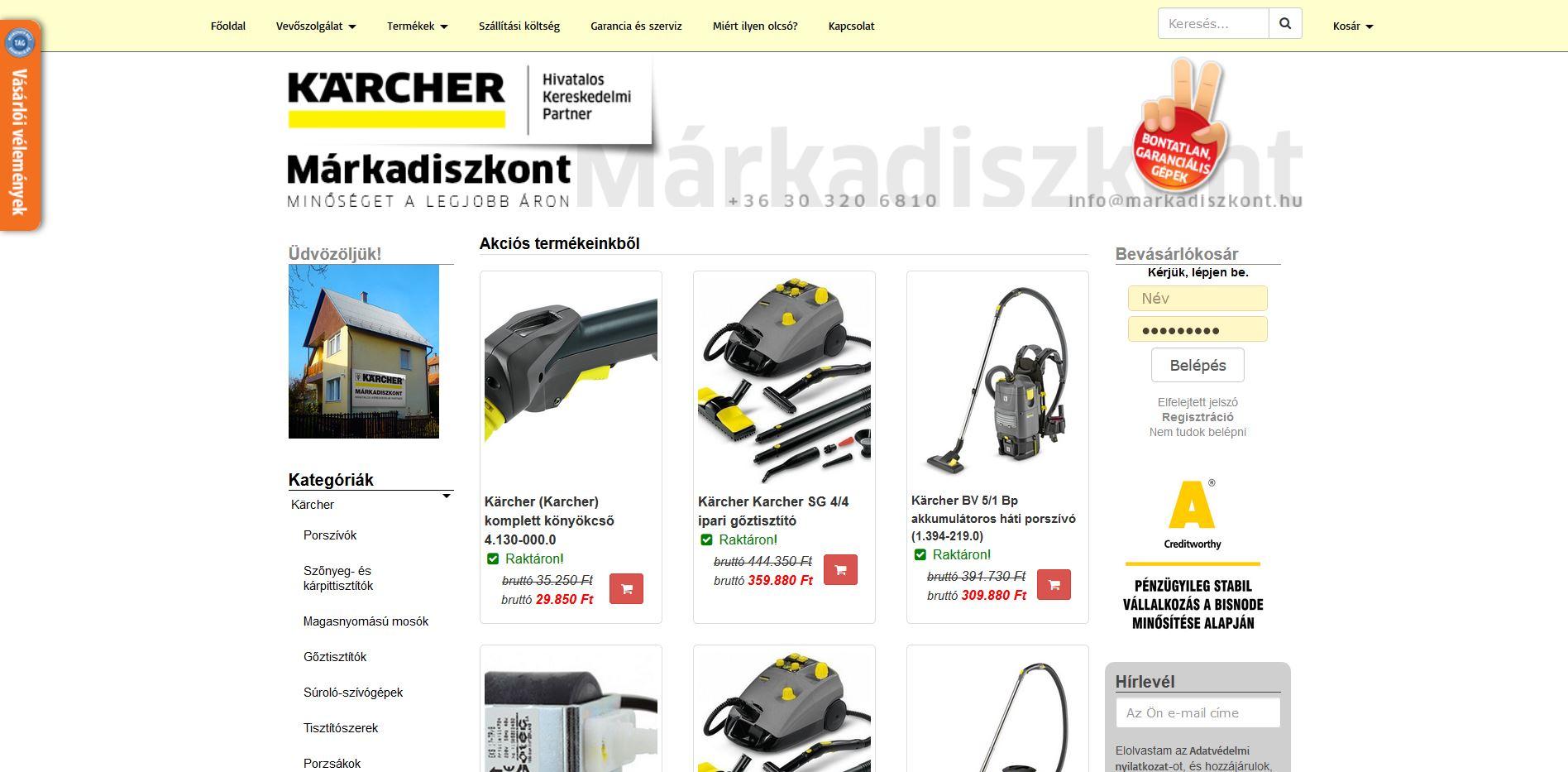 markadiszkont.hu webáruház