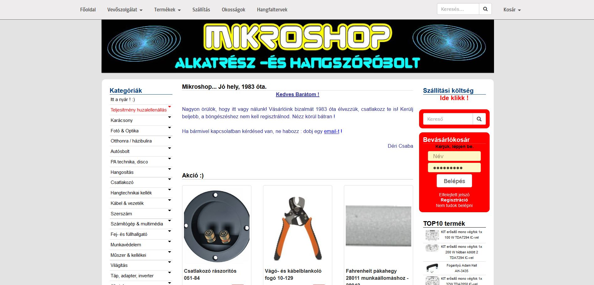 mikroshop.bolt.hu webáruház