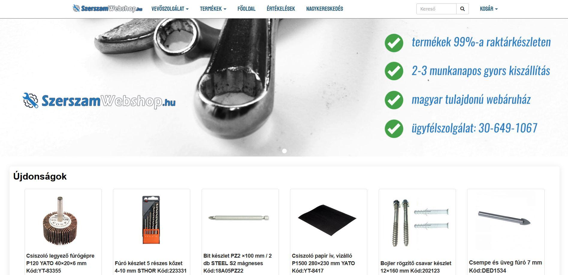 szerszamwebshop.hu webáruház