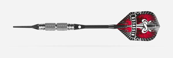 A darts nyíl biztos fogásában és a pontosabb dobásban a testbe mart  különböző szélességű és mintázatű barázdák váltakozása segít. A test a 85%  Tungsten ... 1628852755