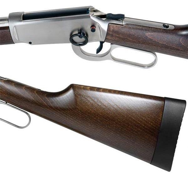 9db2dfa645 A világhírű Winchester cég Duke modelljének élethű másolata ez a 88g-os CO2  patronnal működő, 8 lövetű fém tárral rendelkező alsókulcsos puska.