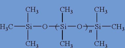 szilikon olaj kémiai lánc felépítése